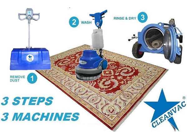Rugs cleaning machine