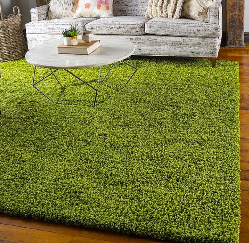 Synthetic Grass Rug Living Room