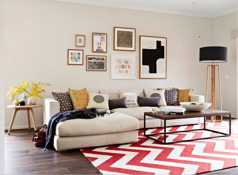 Big Pattern Rug Design for Small room