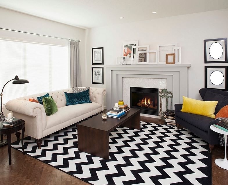 chevron pattern rug for small room