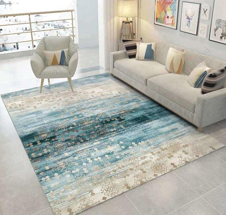 striped pattern rug