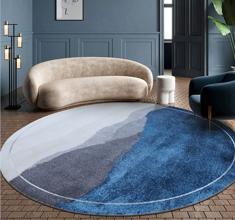 round rug for small room design